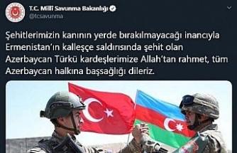 MSB'den Azerbaycan'a başsağlığı