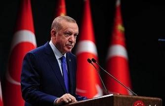 """Cumhurbaşkanı Erdoğan: """"2 milyar 80 milyon lirayı hane başı bin lira olarak ihtiyaç sahiplerine dağıttık"""""""