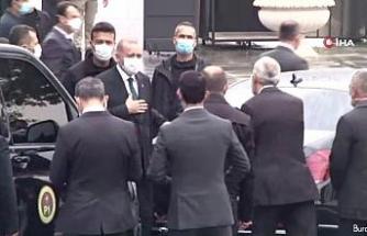 Cumhurbaşkanı Erdoğan Cuma namazını Kerem Aydınlar Camii'nde kıldı