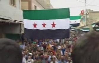 Halep'te Fransa karşıtı protesto