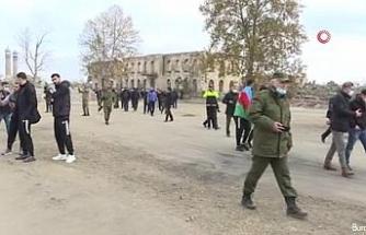 Azerbaycan'da görevli yabancı diplomatlar Ağdam kentini ziyaret etti