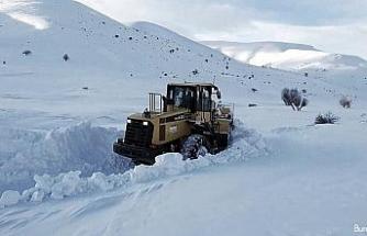 Soğanlı Dağında karla mücadele çalışmaları sürüyor