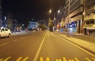 Kısıtlamanın başlamasıyla İzmir sessizliğe büründü