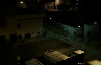 Saklandığı duvarın arkasından polise 'Gel' diye bağırdı