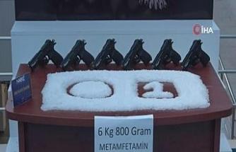 Sofra bezinden 6 kilo 800 gram metamfetamin çıktı