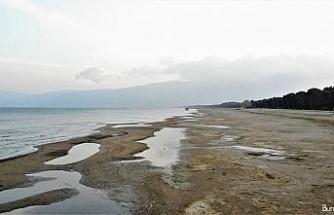 Türkiye'nin beşinci büyük gölünde korkutan kuraklık
