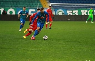 Çaykur Rizespor: 1 - Gaziantep FK: 0 (İlk yarı)