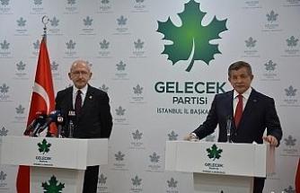 CHP Genel Başkanı Kılıçdaroğlu'ndan Davutoğlu'na ziyaret