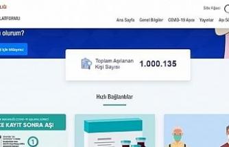 Covid-19 ile mücadele kapsamında Türkiye genelinde aşı olan kişi sayısı 1 milyonu geçti