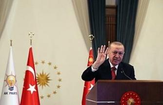 """Cumhurbaşkanı Erdoğan, """"Büyük ve güçlü Türkiye'nin inşasını sürdürüyoruz"""""""
