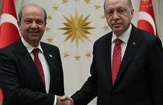 KKTC Cumhurbaşkanı Tatar'dan Cumhurbaşkanı Erdoğan'a teşekkür
