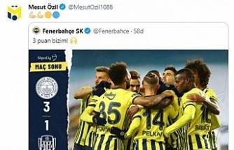Mesut Özil'in galibiyet paylaşımı