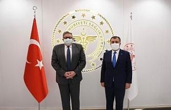 Sağlık Bakanı Koca, Rusya Federasyonu Ankara Büyükelçisi Yerhov'u kabul etti