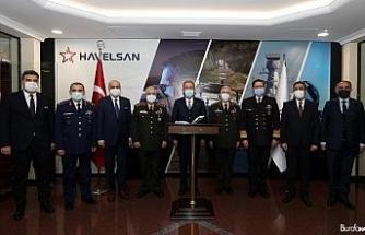Bakan Akar ve TSK komuta kademesi Havelsan'da incelemelerde bulundu