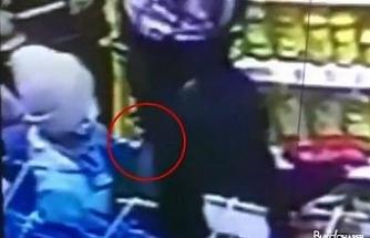 Şişli'deki yaşı küçük hırsız kamerada
