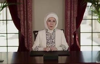 Emine Erdoğan, Halkbank Üreten Kadınlar Zirvesi'ne video mesaj gönderdi: