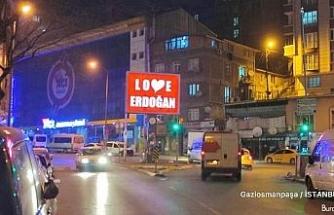 Gaziosmanpaşa Belediyesi'nden 'Stop Erdoğan'a yanıt: 'Love Erdoğan