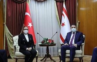 Ticaret Bakanı Pekcan, KKTC Başbakanı Saner tarafından kabul edildi