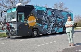 Türkiye'de ilk defa bir kadın otobüs karavan tasarladı