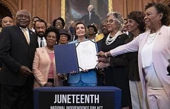 ABD Kongresi, 19 Haziran'ı federal tatil olarak kabul eden yasa tasarısını onayladı
