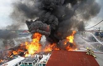Filipinler'de korkutan gemi yangını: 6 yaralı