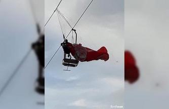 Paraşüt telesiyej hattına dolandı