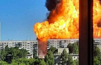 Rusya'da akaryakıt istasyonunda şiddetli patlama