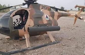 Afgan ordusuna ait helikopter teknik arıza nedeniyle acil iniş yaptı