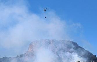 Kozan'da orman yangını devam ediyor, havadan müdahale başladı