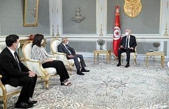 """Tunus Cumhurbaşkanı Said: """"Ülkede adaletsizliğe, gasp veya fonlara el konulmasına yer yok"""""""