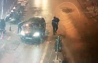 İstanbul'da dehşet anları kamerada: Silahla dizlerinden vurup yerde tekmelediler