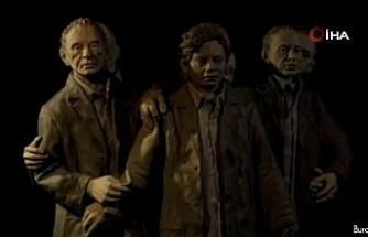 """ABD'de """"Bir Nöronun Hayatı"""" sergisinde Türk heykeltıraşın hareketli heykeline büyük ilgi"""