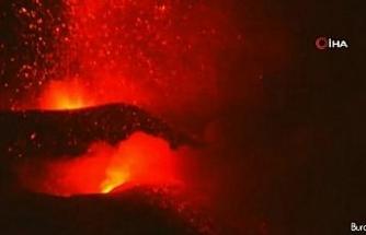 Bilim adamları lav örnekleri topluyor