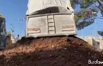 İsrail güçleri, Kudüs'te bulunan Yusufiye Mezarlığındaki yıkıma yeniden başladı