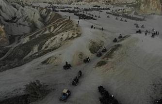 Kapadokya'da turizmciler ATV araçlarına getirilen kısıtlamayı protesto etti