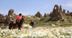 Kapadokya'da ilkbahar güzelliği