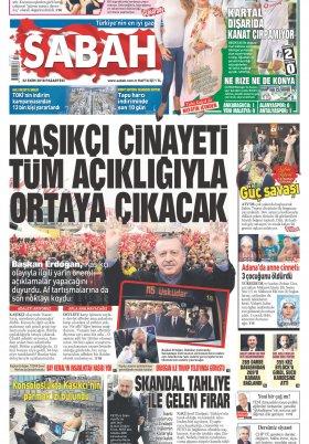 Sabah - 22.10.2018 Manşeti