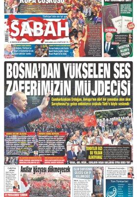 Sabah - 21.05.2018 Manşeti