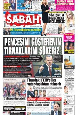 Burda Haber - Doğru Dürüst Haber - 27.10.2016 Manşeti