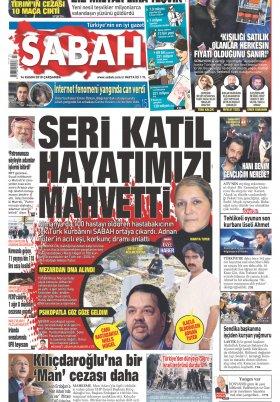 Sabah - 14.11.2018 Manşeti