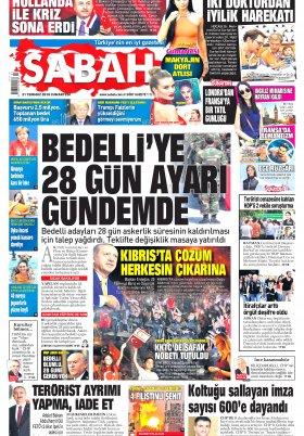 Sabah- 21.07.2018 Manşeti