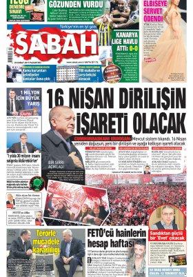 Sabah - 20.02.2017 Manşeti
