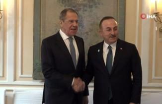 Bakan Çavuşoğlu, Lavrov'la görüştü