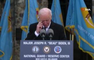 Biden, veda konuşması sırasında gözyaşlarını tutamadı