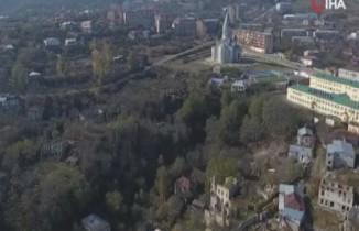 Ermenistan'ın işgalinden kurtarılan Şuşa kenti havadan görüntülendi