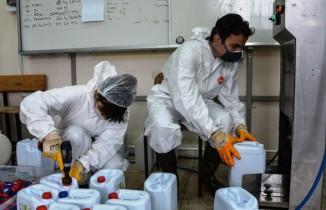 Günde 10 ton dezenfektan üretiliyor