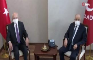 Kılıçdaroğlu, Karamollaoğlu'nu ziyaret etti