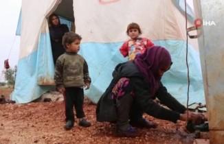 Kötü hava koşulları 800 bin Suriyeliyi etkiledi