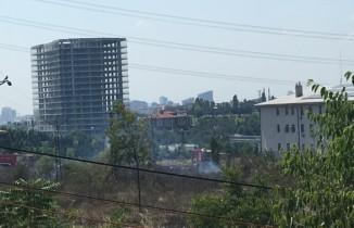 Metris Cezaevi yanında korkutan yangın