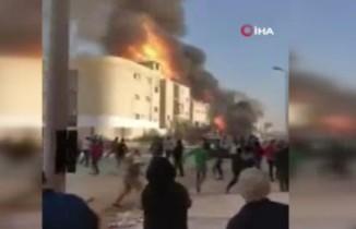 Mısır'da boya ve tiner fabrikasında büyük yangın